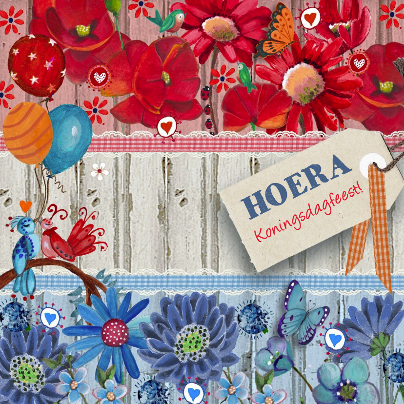 Uitnodigingen - Koningsdag Feest Vlag Oranje