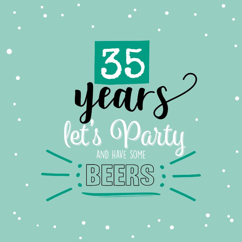 Uitnodigingen - Party so let's have some beers