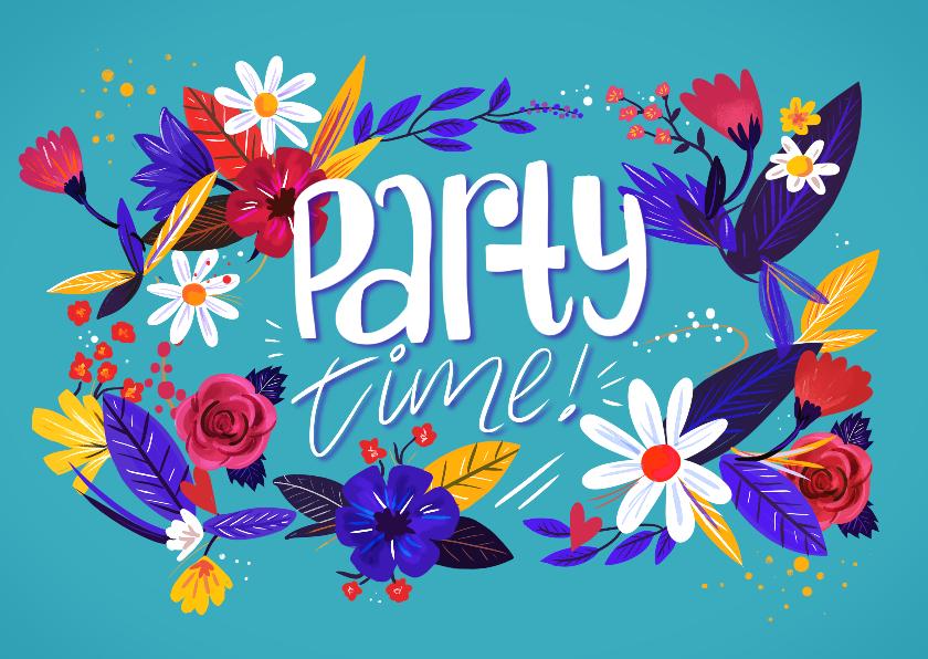 Uitnodigingen - Party Time Bloemen