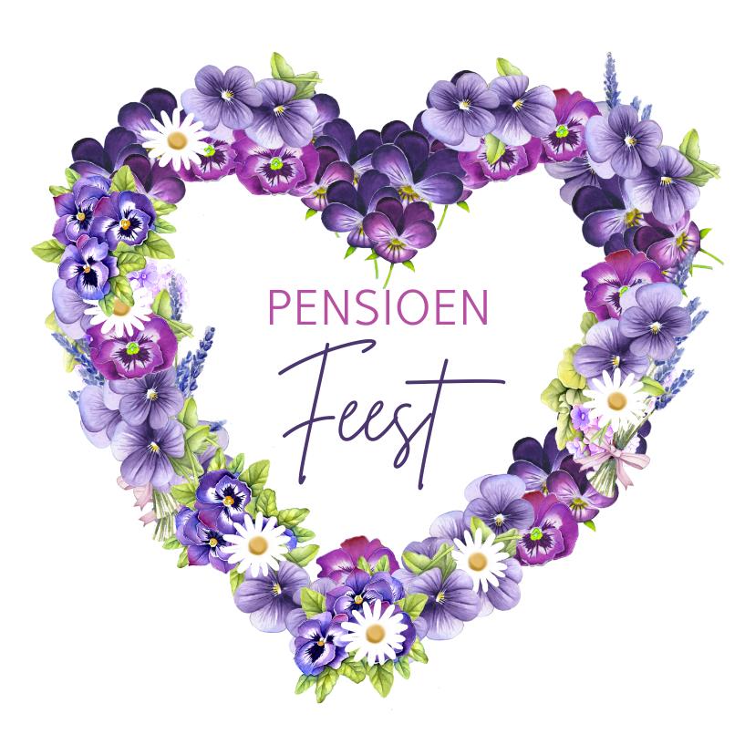 Uitnodigingen - Pensioen feest viooltjes
