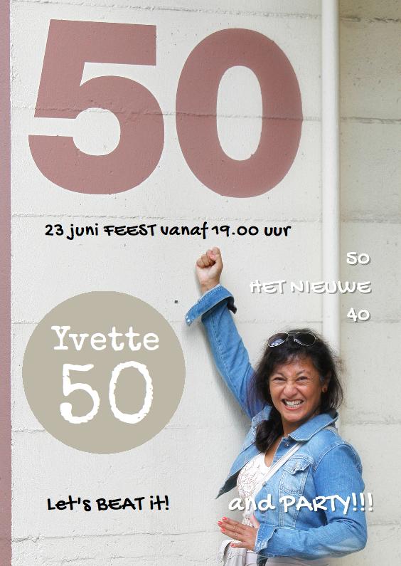 Uitnodigingen - Sarah uitnodiging eigen foto 50 - OT