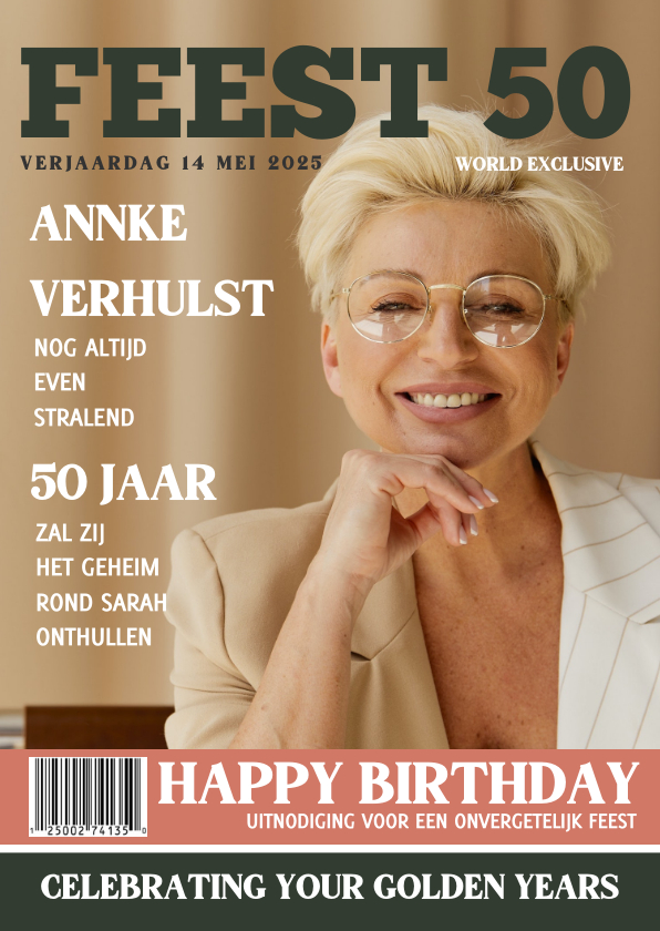 Uitnodigingen - Sarah Verjaardag 50 jaar Feest