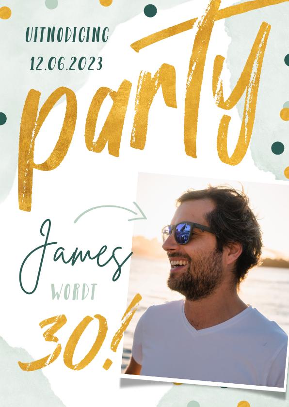 Uitnodigingen - Superfeestelijke uitnodiging voor verjaardagsfeestje