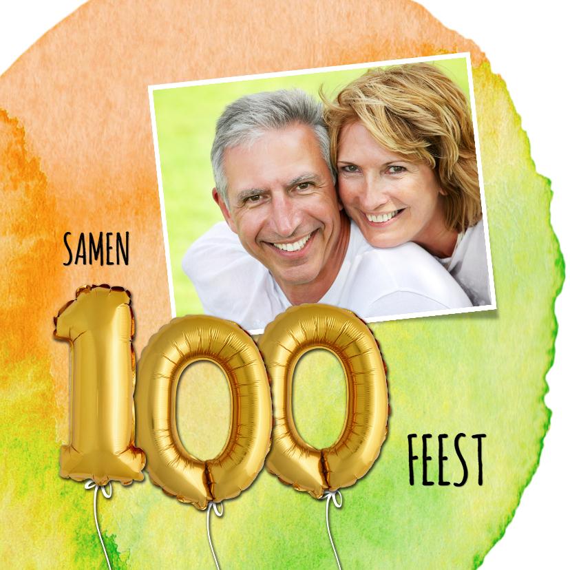 Uitnodigingen - Uitnodiging 100 ballon verf - OT
