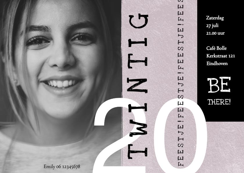 Uitnodigingen - Uitnodiging 20, modern met speelse typografie