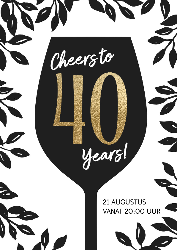 40 Jaar Huwelijk Uitnodiging