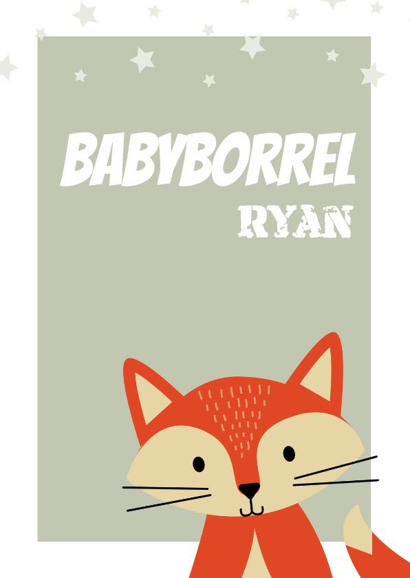 Uitnodigingen - Uitnodiging babyborrel voor een jongen