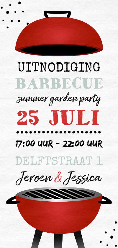 Uitnodigingen - Uitnodiging bbq barbecue grill feestje tuinfeest