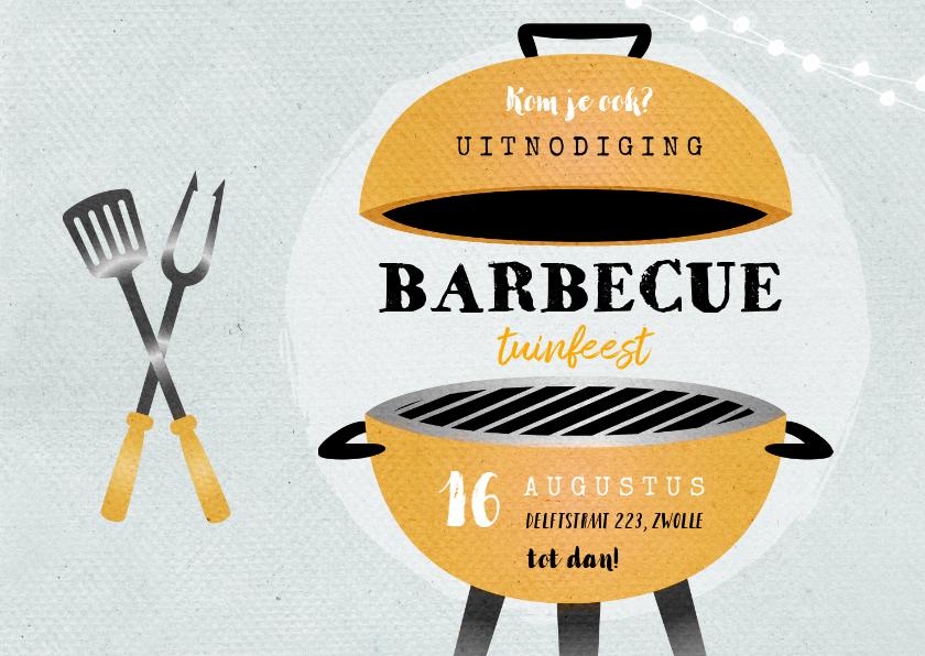 Wonderbaarlijk Uitnodiging bbq tuinfeest barbecue grill | Kaartje2go HP-11