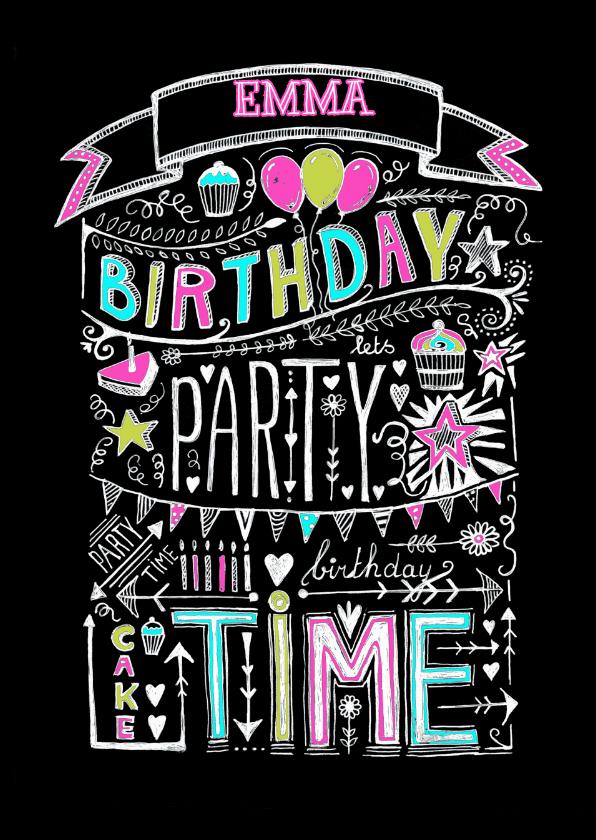 Uitnodigingen - Uitnodiging Birthday Party tekst