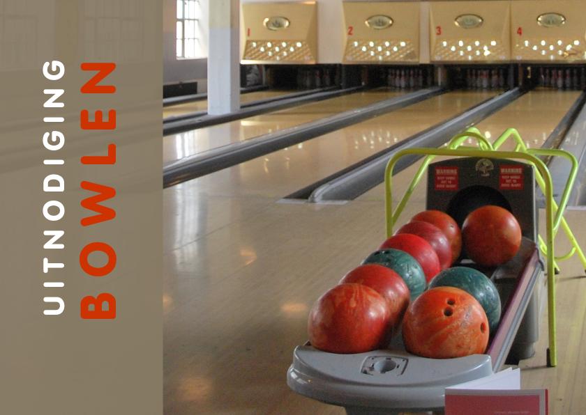 Uitnodigingen - Uitnodiging Bowlen ballen
