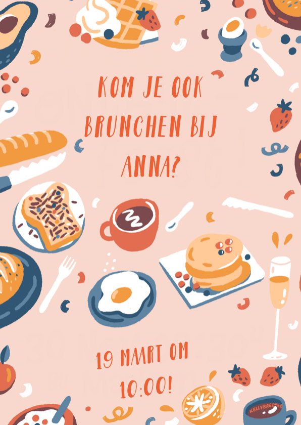 Uitnodigingen - Uitnodiging brunch