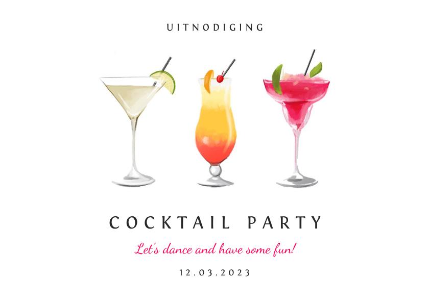 Uitnodigingen - Uitnodiging cocktail party voor iedere gelegenheid