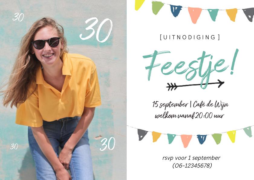 Uitnodigingen - Uitnodiging - feestje met foto