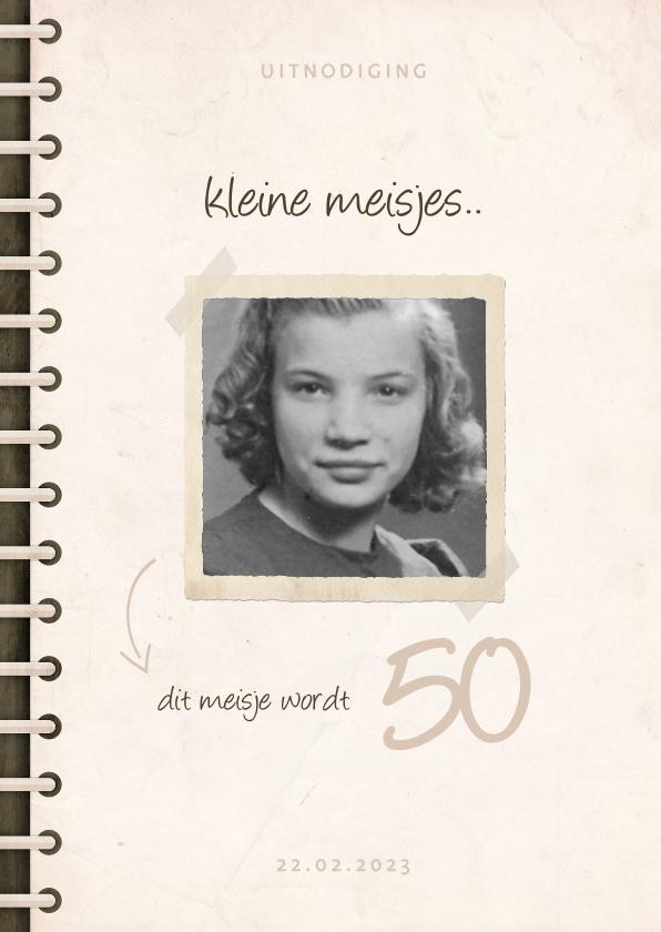 Uitnodigingen - Uitnodiging fotoboek 'kleine meisjes worden groot'