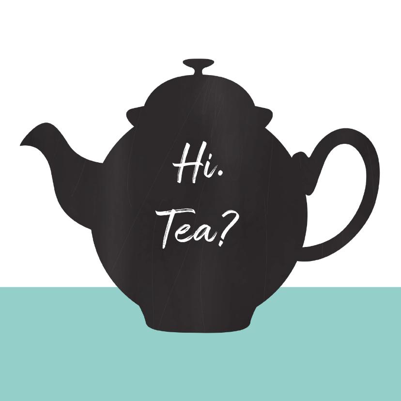 Uitnodigingen - Uitnodiging high tea chalkboard
