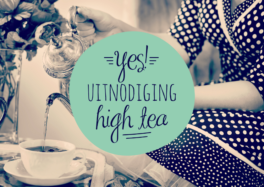 Uitnodigingen - Uitnodiging high tea retro