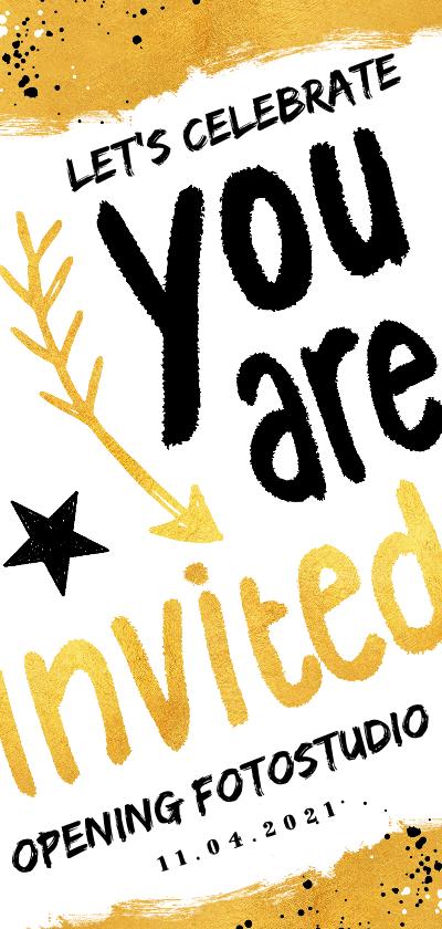 Uitnodigingen - Uitnodiging hip en feestelijk voor een opening