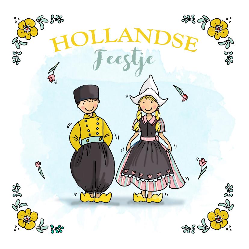 Uitnodigingen - Uitnodiging hollands feestje