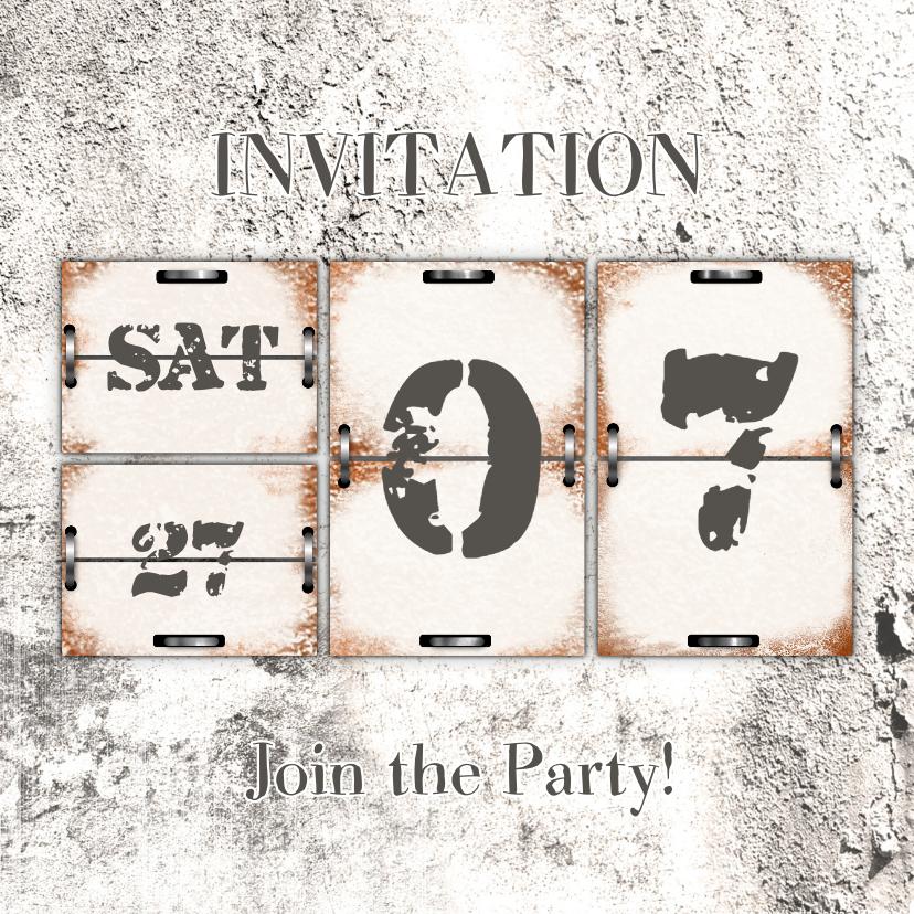 Uitnodigingen - Uitnodiging kalender steen RB