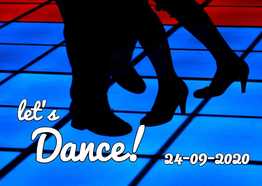 Uitnodigingen - Uitnodiging Lets dance - OT