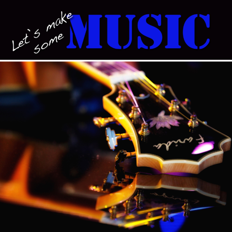 Uitnodigingen - Uitnodiging Music 4 - Gitaar - OT