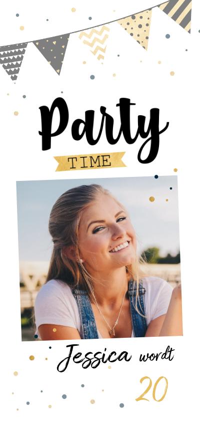 Uitnodigingen - Uitnodiging party banner