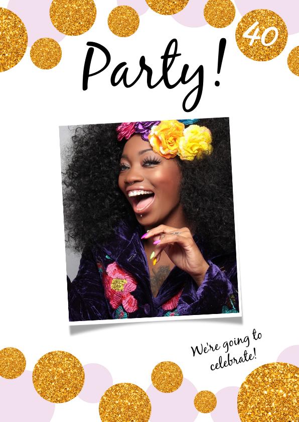 Uitnodigingen - Uitnodiging Party! Modern en confetti