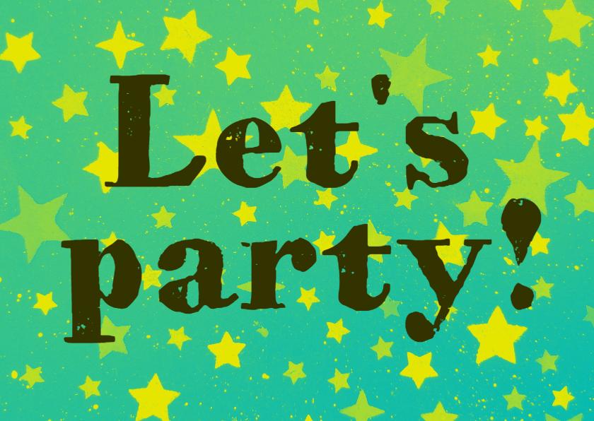 Uitnodigingen - Uitnodiging Party time IW