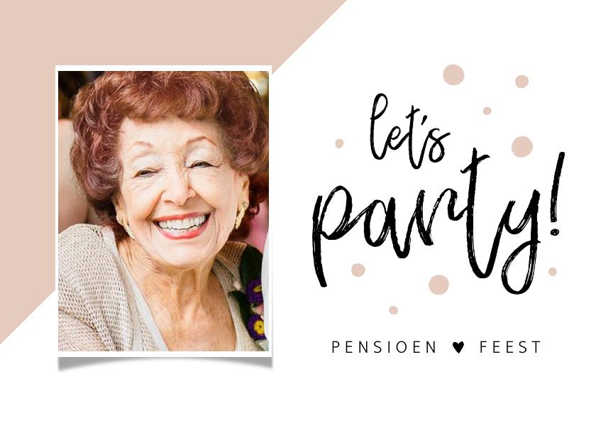 Uitnodigingen - Uitnodiging pensioen hip en stijlvol met foto