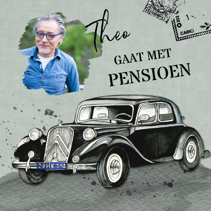 Uitnodigingen - uitnodiging pensioen oldtimer