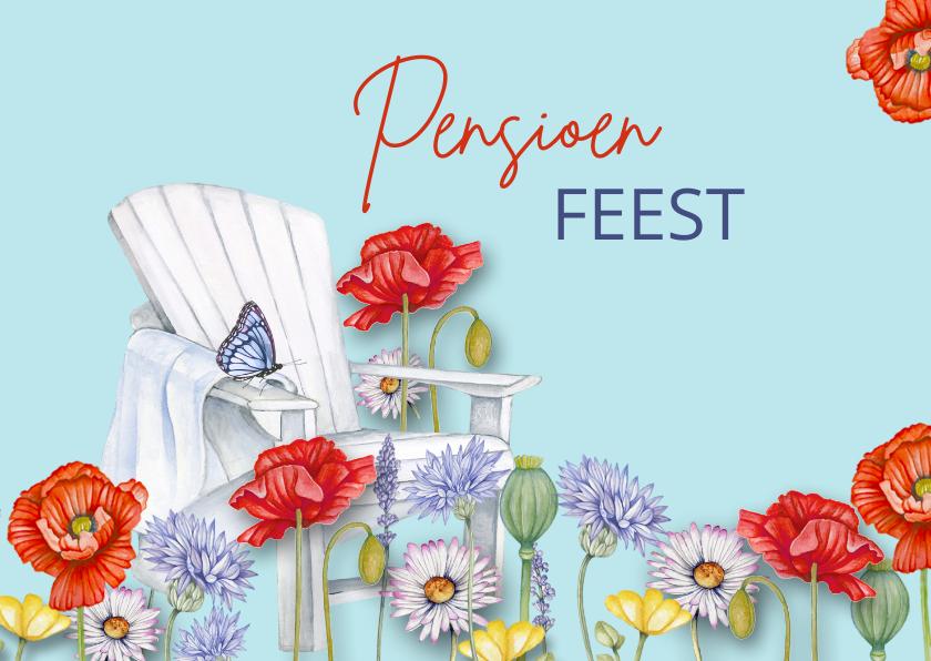 Uitnodigingen - Uitnodiging pensioen veldbloemen
