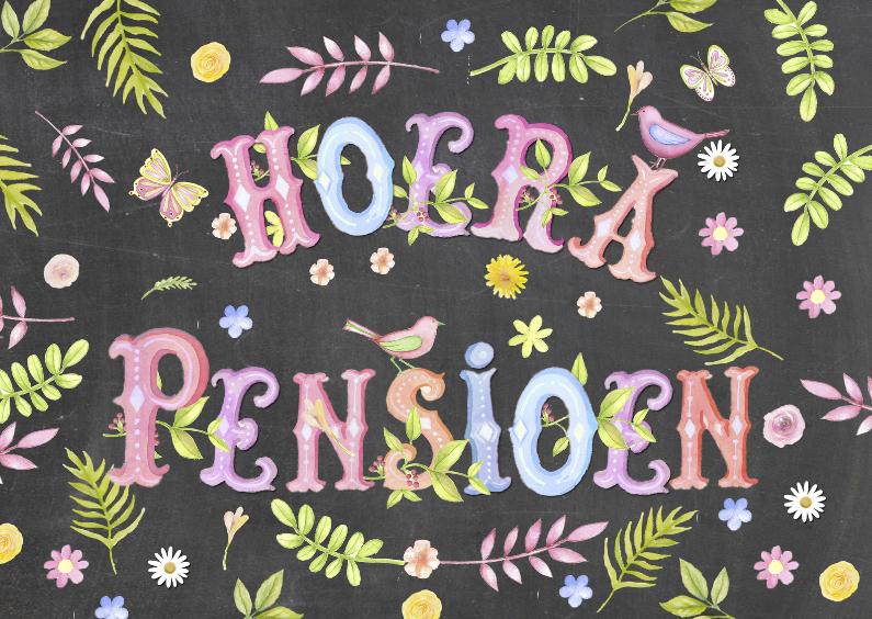 Uitnodigingen - uitnodiging pensioenfeest tekst