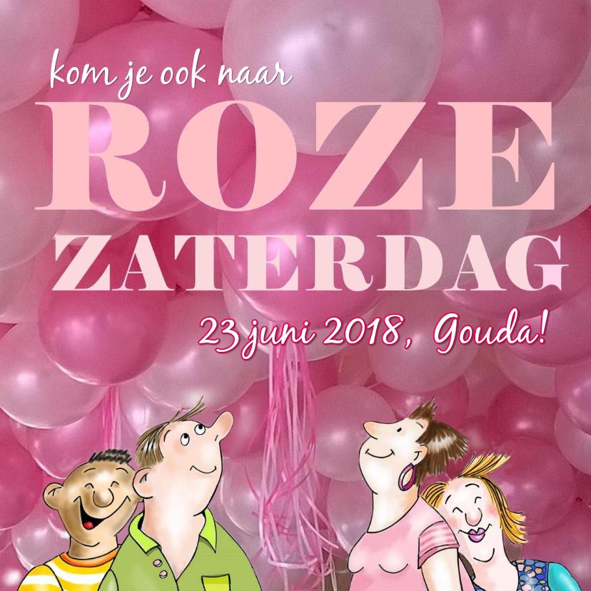 Uitnodigingen - Uitnodiging Roze Zaterdag juni
