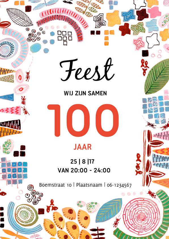 Uitnodigingen - Uitnodiging samen 100 jaar feest