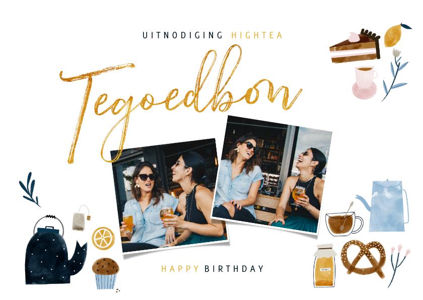 Uitnodigingen - Uitnodiging Tegoedbon High Tea illustraties en foto's