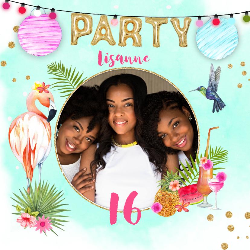Uitnodigingen - Uitnodiging tropical party