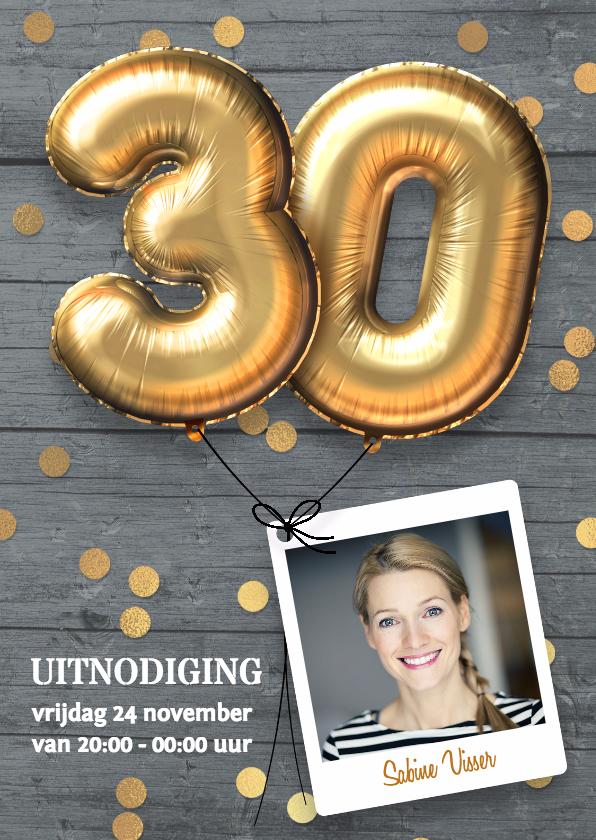 Uitnodigingen - Uitnodiging verjaardag 30 jaar
