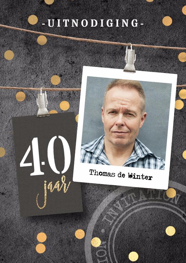 Uitnodiging Verjaardag 40 Man Uitnodigingen Kaartje2go