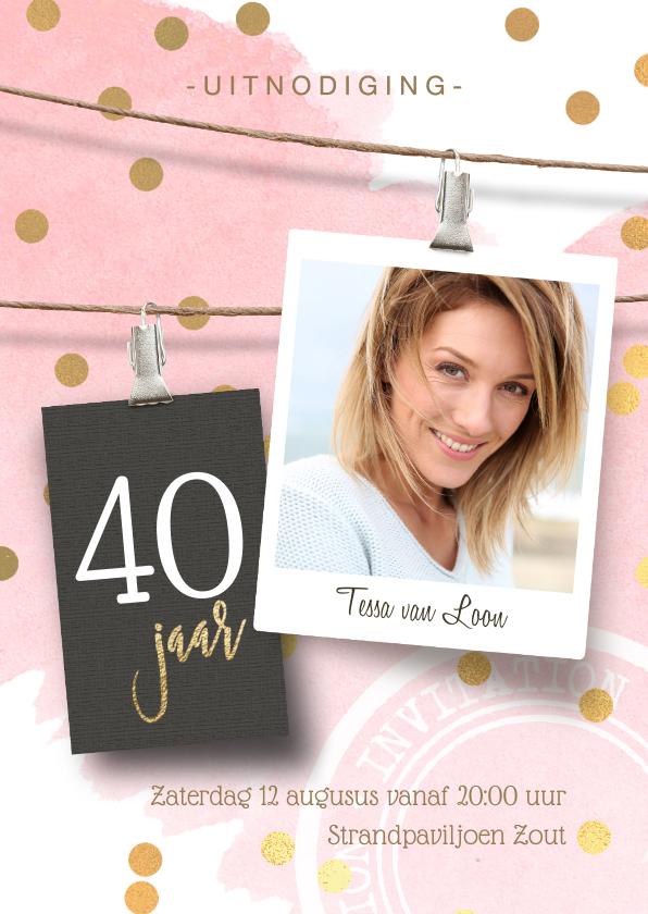 Uitnodigingen - Uitnodiging verjaardag 40
