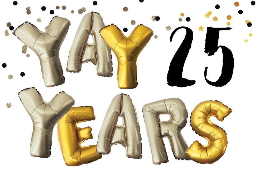 Uitnodigingen - Uitnodiging verjaardag leeftijd aanpasbaar goud zilver