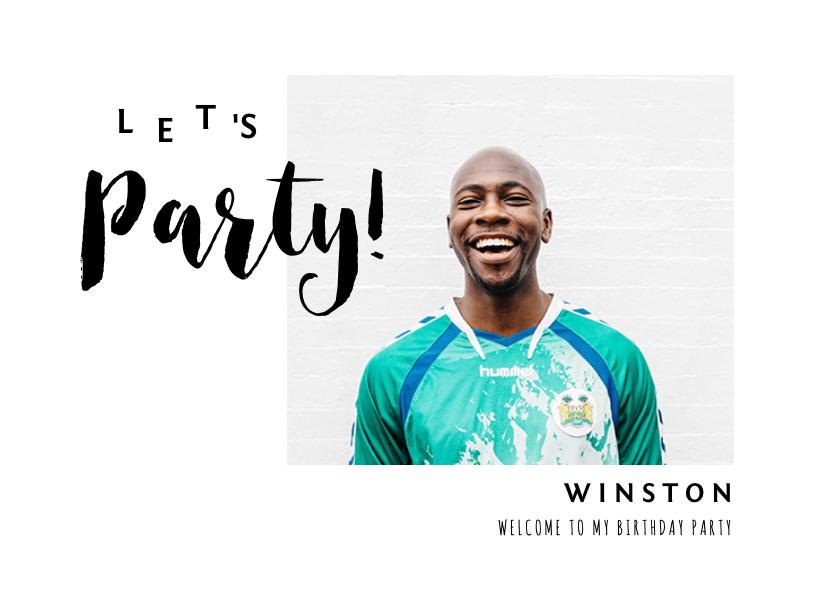 Uitnodigingen - Uitnodiging verjaardag man met eigen foto