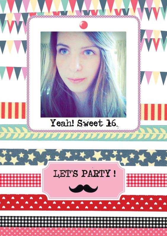 Uitnodigingen - Uitnodiging verjaardag meisje vrouw dessin
