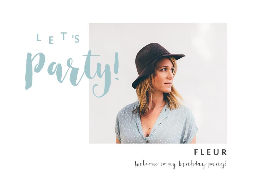Uitnodigingen - Uitnodiging verjaardag vrouw met eigen foto