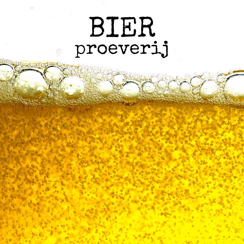 Uitnodigingen - Uitnodiging voor bierproeverij