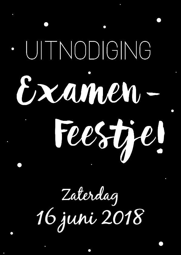 Uitnodigingen - Uitnodiging voor een Examenfeestje