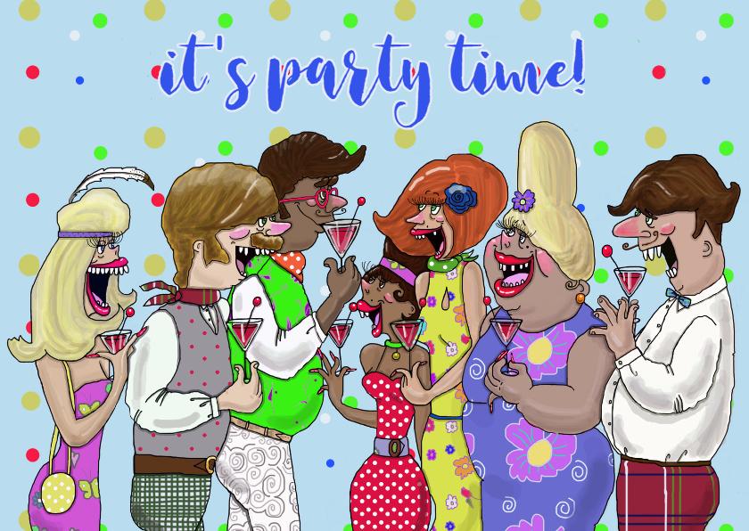 Uitnodigingen - Uitnodiging Vrolijk feestje