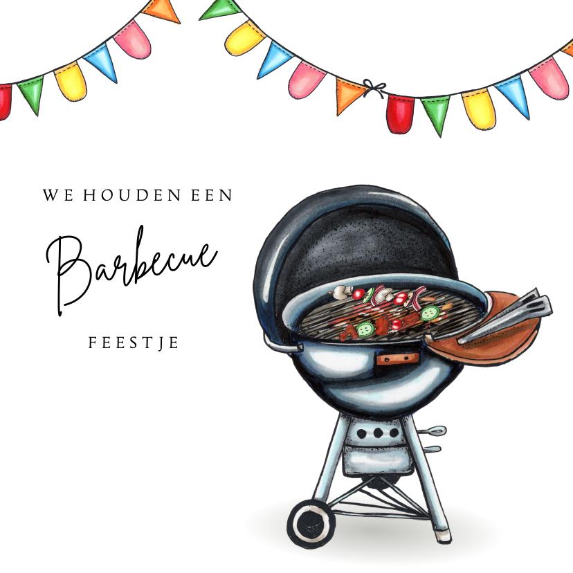 Uitnodigingen - Uitnodigingen barbecue kaart