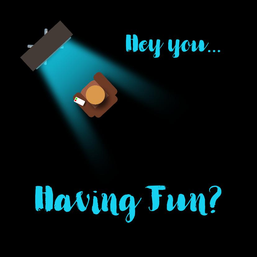 Uitnodigingen - Uitnodigingskaart having fun