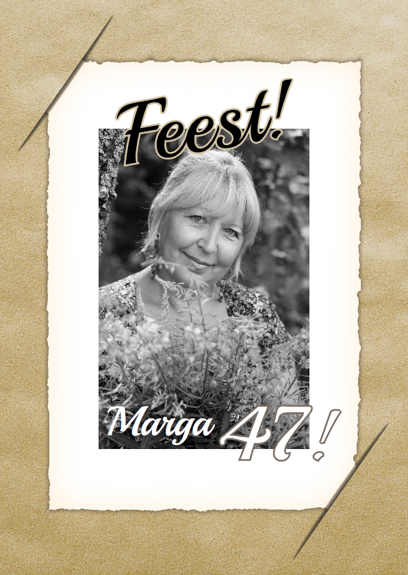 Uitnodigingen - Uitnodigingskaart vintage bloem